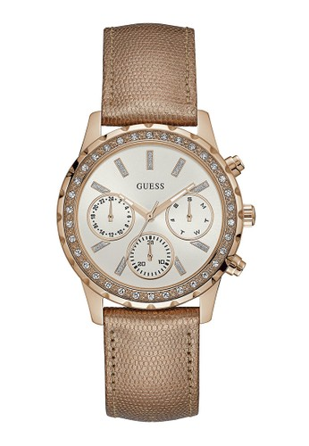 Guess Watch gold Guess Jam Tangan Wanita - Rosegold - Leather Strap - W0903L3 E78E1AC47E79D6GS_1