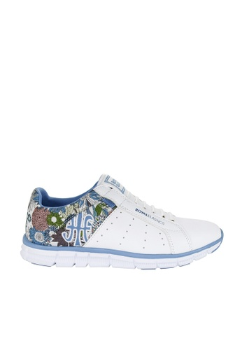 Royal Elastics white and multi Zephyr Laceless Trainers RO796SH2UYL5HK_1