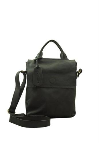 The Tannery Manila black Dean, Leather Messenger  Bag TH690AC48DLVPH_1