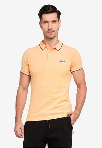 SUPERDRY gold Classic Poolside Pique Polo Shirt 429EBAA7921555GS_1