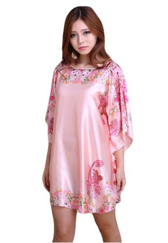 SMROCCO pink Batwing Sleeve Plus Size Nightie Sleepwear L7010 LO761US20DBRMY_1