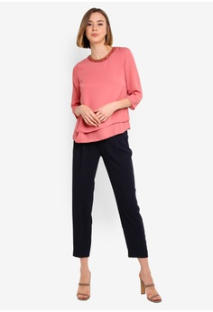 0c9d550f 10% OFF Dorothy Perkins Rose Jewel Neck 3/4 Top RM 179.00 NOW RM 160.90  Available in several sizes