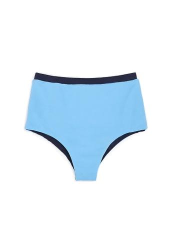 Ozero Swimwear blue CONSTANCE Sustainable Bikini Bottom in Arctic Blue 16326USF13E02EGS_1