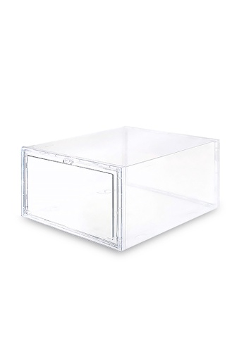HOUZE SoleMate - Side Drop Lid High-Cut Shoe Box BAC73HL38EB51CGS_1