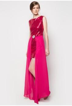 Julia Sequin 2-in-1 Dress