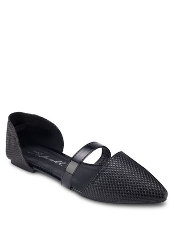 尖頭側鏤空平底鞋, 女鞋, esprit retail鞋