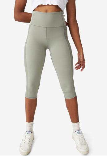 Cotton On Body green Rib Pocket Capris 771D9AADBBE148GS_1