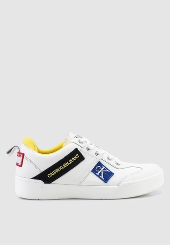 Calvin Klein 白色 皮革運動鞋 381B5SH40FCB18GS_1