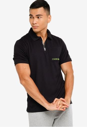 Calvin Klein black Modern Sweat Work Out Polo Shirt - CK Performance F9682AA3729F49GS_1