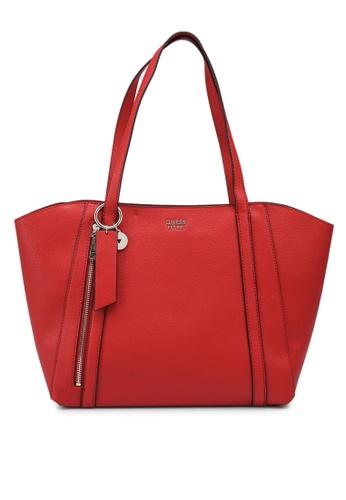 Guess red Naya Tote Bag C3C3BACDA6284EGS_1