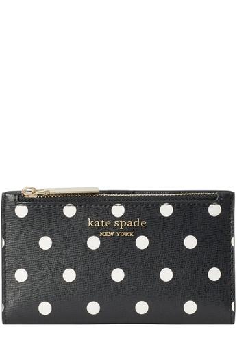 Kate Spade black Kate Spade Spencer Cabana Dot Small Slim Bifold Wallet in Black Multi 7FEACAC2732DE1GS_1