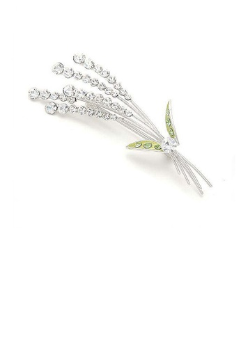 Glamorousky green Lavender Brooch with Silver and Green Austrian Element Crystals 3B693ACA11E159GS_1