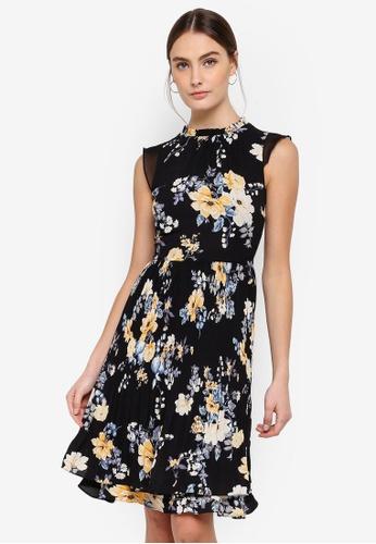 FORCAST black Ryleigh Pleated Dress 19415AA66DF294GS_1