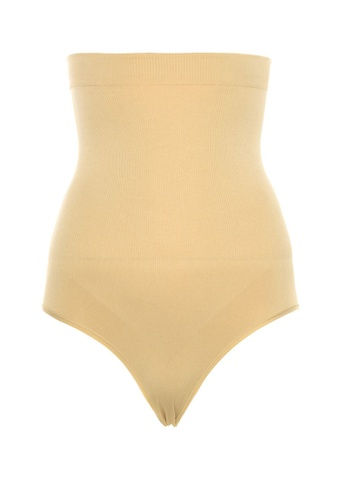 Trendyol beige Super High Waisted Shaping Panties 1D0B5USABAE9BDGS_1