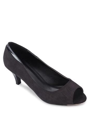 交叉踝帶尖頭高跟鞋zalora 泳衣, 女鞋, 鞋