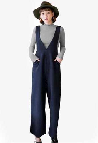 Tokichoi navy High Waisted Jumpsuit 4E42EAA1893388GS_1