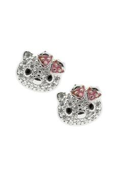 aa3f65b80 Elfi silver Elfi 925 Genuine Silver Hello Kitty Glitter Stud Earrings SE91  18CBEACE49DA87GS_1