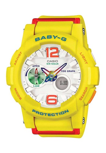 CASIO yellow Casio Baby-G G-Lide White, Red and Yellow Resin Watch 391E2AC3A721C4GS_1
