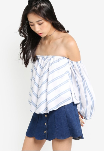 Something Borrowed white Off Shoulder Top 22949AA987BE5DGS_1