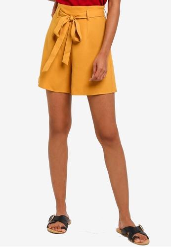 ZALORA BASICS yellow Basic Flowing Bermuda Shorts E772DAAA90D088GS_1