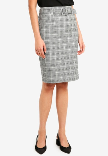 Forever New grey and multi Shyla Pencil Skirt 55705AAC8426DFGS_1