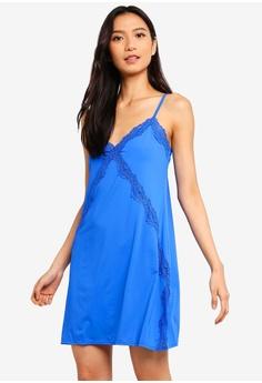 b01e4e4da Cotton On Body blue Cross Lace Slinky Nightie 3F8FDAA14734A3GS 1