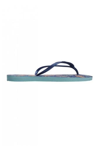 Dupe blue and navy Dupé CAPRICHO Ice Blue/Navy Blue Flip Flops DU634SH83LXSHK_1