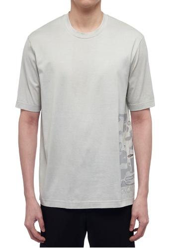 ck Calvin Klein 灰色 雙層絲光棉短袖T恤 66FECAA58B265BGS_1