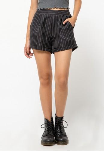COLORBOX black Striped Tailored Shorts 00DDCAA11C7F2FGS_1