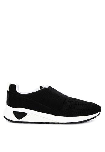 Diesel black S-Kb Elastic Sneakers 0F17BSH37F46EBGS_1