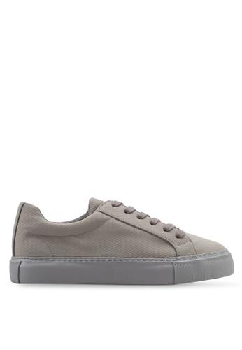 Topman 灰色 動物紋運動鞋 1C5BESH180E407GS_1