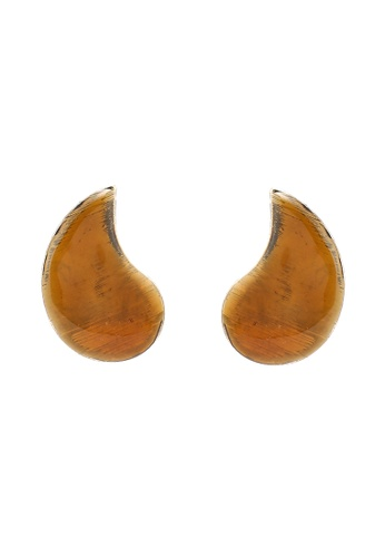 niko and ... brown Melange Earrings F93D5AC4CB6DFEGS_1