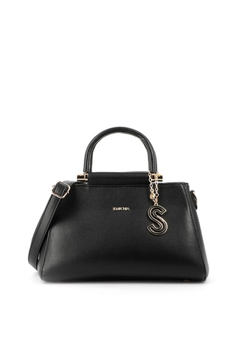 SEMBONIA black SEMBONIA Synthetic Leather Satchel Bag (Black) F5D7BAC9BEA1BAGS_1