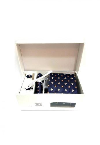 5 Pieces Set Gift Box Business Formal Necktie Handkerchief Cufflink Men S Tie 601 10