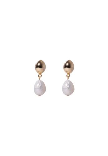 SKEDA gold Miski Baroque Pearl Drop Earrings C203AACD42C5C2GS_1