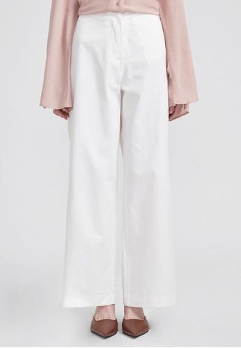 紐扣系合闊腿褲, esprit門市服飾, 長褲及內搭褲