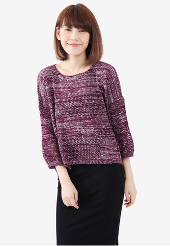 Tokichoi red Multi Knit Sweater with Pockets 8BAC4AA5ADC89FGS_1