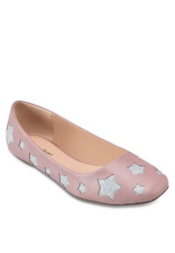 星星印花方頭平底鞋, 女鞋, 印花時esprit 品牌代