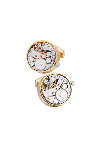 Kings Collection gold Movement Watch Cufflinks 4EDCEAC02E6666GS_1