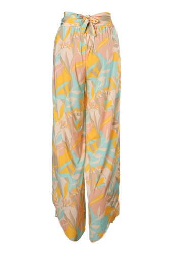 Sunseeker multi Stencilled Tropics Wide Legs Beach Pants 5D8B2USD8322CFGS_1