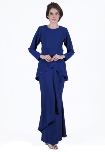 Kurung Jasmine from LARA NOUR in blue_1