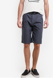ESPRIT blue and navy Woven Regular Shorts ES374AA84CRZMY_1