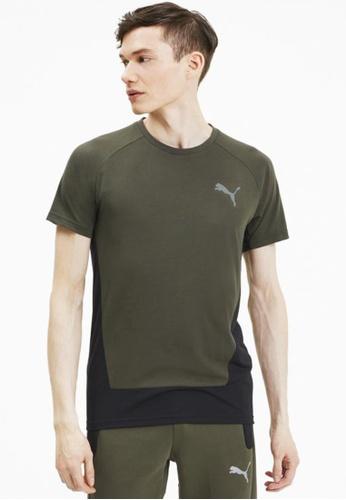 Puma green Evostripe Men's Tee 5352AAAF67BF01GS_1