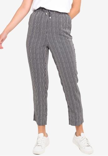 Womens Multi Floral Check Tartan Print Italian Ribbed Waistband Trousers Outwear