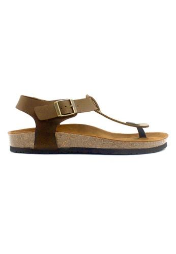 SoleSimple brown Oxford - Camel Leather Sandals & Flip Flops ED2BFSH1BAB50DGS_1