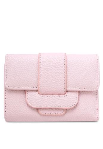 NUVEAU pink Pebbled Texture Medium Ladies Wallet NU245AC0RKW9MY_1