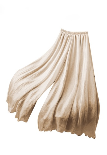 Twenty Eight Shoes beige VANSA Double Chiffon Wide-leg Pants  VCW-P1928.80 B35FDAAB552582GS_1