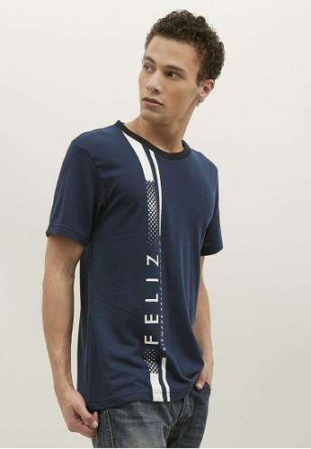 Woffi navy Feliz T-Shirt Woffi Man 3E75DAAC453B52GS_1