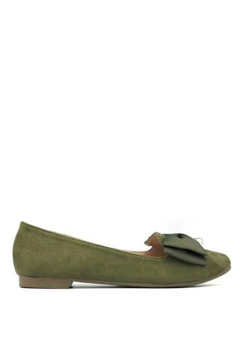 Carlo Rino green Carlo Rino 33320-A002-36 Pointed Toe Flats (Green) 35469SHA35859AGS_1