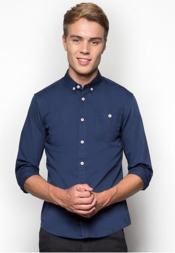 簡esprit分店約長袖襯衫, 服飾, 襯衫